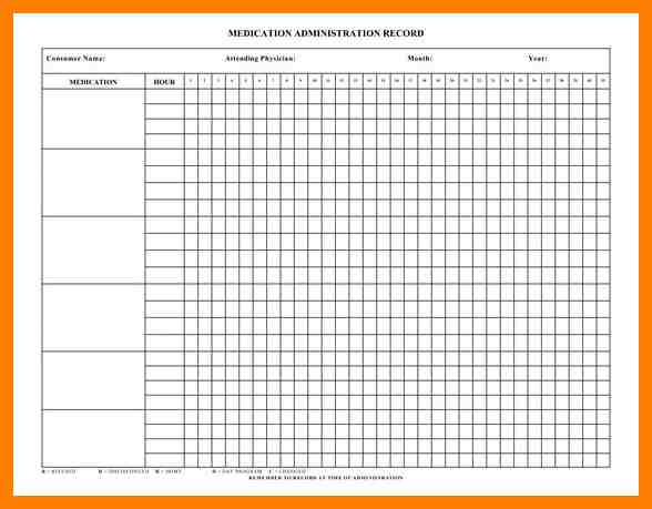 Medication Administration Record Template shatterlioninfo - medication administration record template