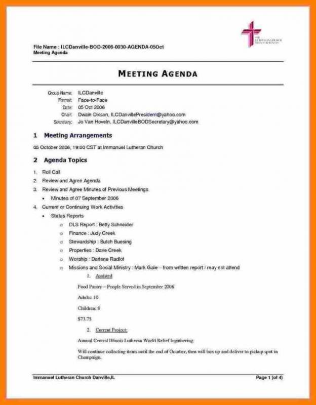 Meeting Itinerary Template shatterlioninfo