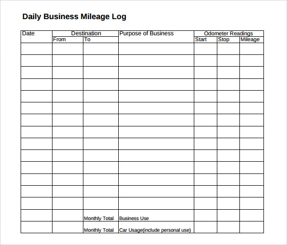 Mileage Log Template For Self Employed Shatterlioninfo Mileage Log - daily mileage log excel