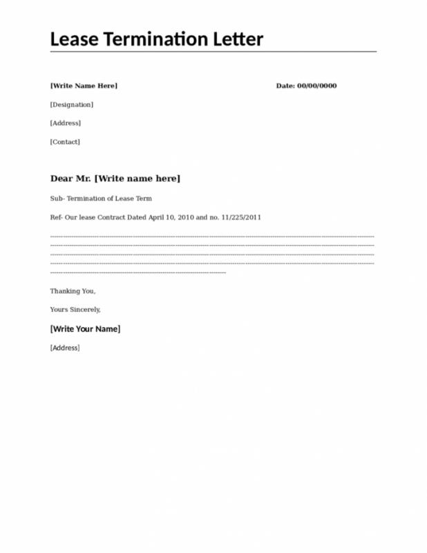 Month To Month Lease Termination Letter Template shatterlioninfo