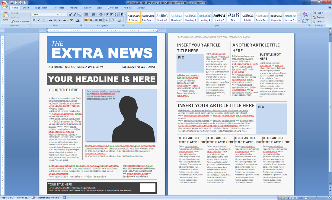 Newspaper Template Publisher shatterlioninfo