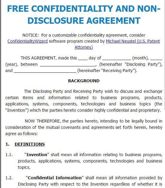Nda Agreement Template Word Image collections - Agreement Letter Format - confidentiality agreement template word