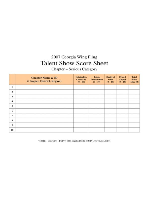 Pages Resume Templates shatterlioninfo - sample talent show score sheet