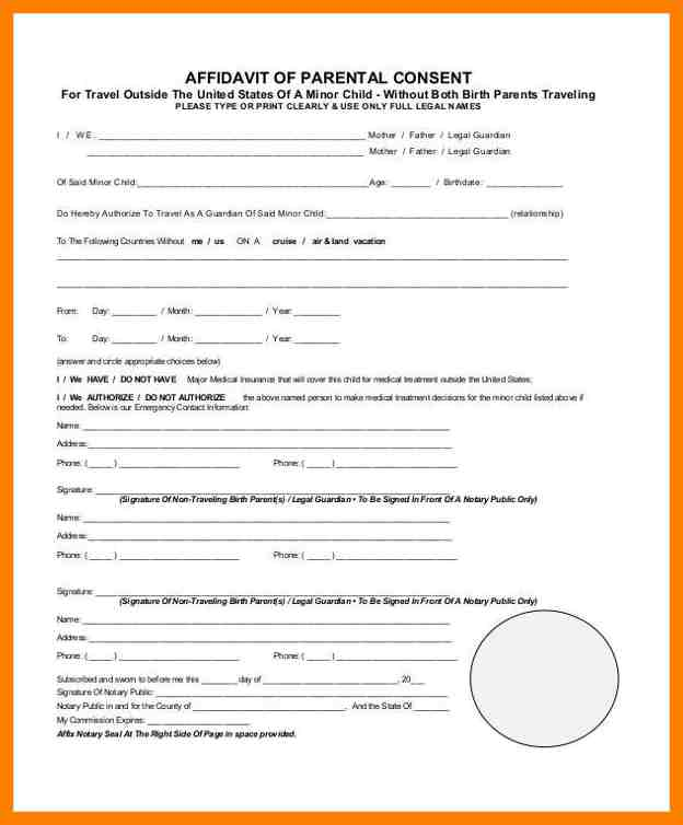 Parental Consent Form Template shatterlioninfo - parental consent to travel form