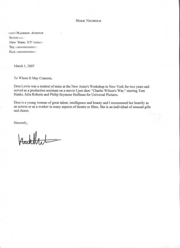 Letter Of Recommendation For Student Template Images - Template