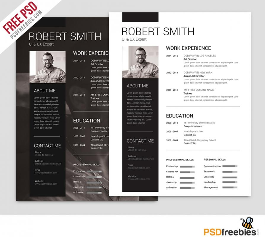 Photoshop Resume Template shatterlioninfo