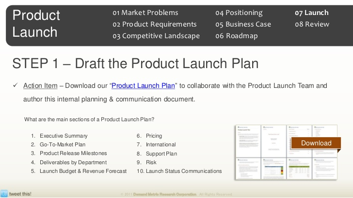product launch strategy template - Minimfagency - product plan template