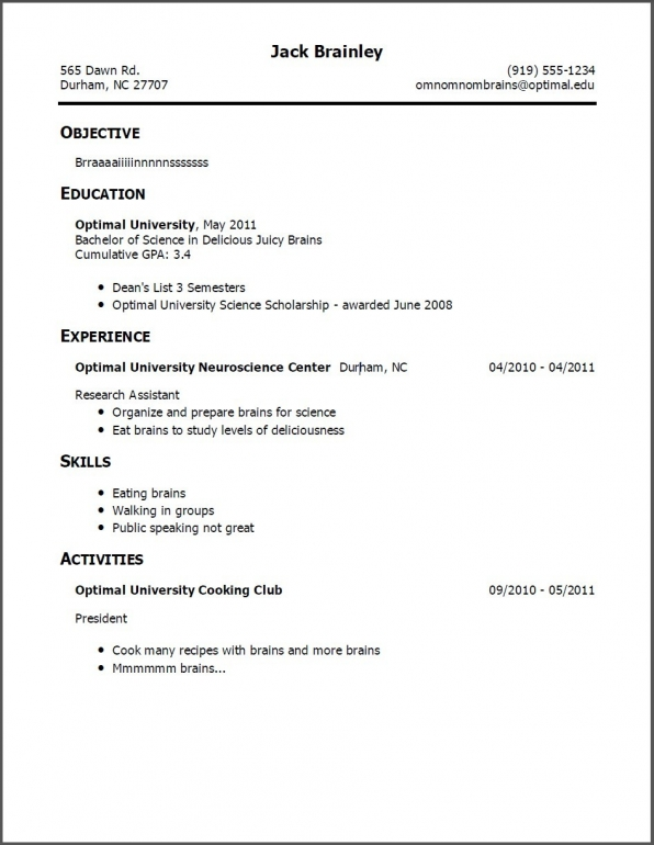 Simple Resume Template shatterlioninfo
