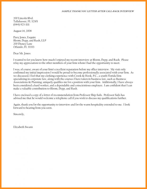 Thank You Email After Interview Template shatterlioninfo