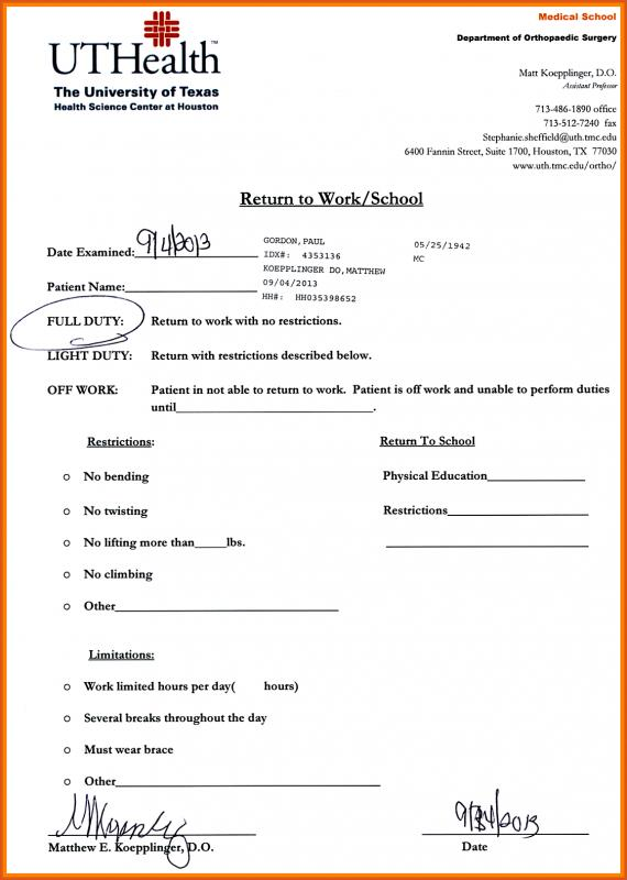 Urgent Care Doctors Note Template shatterlioninfo - doctors note template