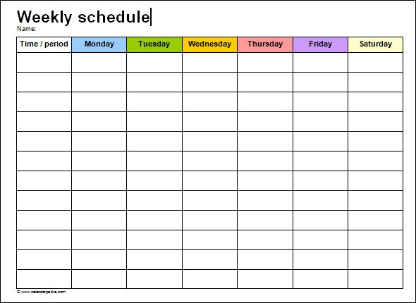 Weekly Cleaning Schedule Template shatterlioninfo