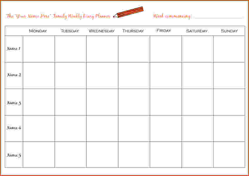 Weekly Meal Planner Template Excel shatterlioninfo