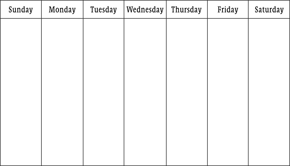 template for a weekly schedule - Intoanysearch - week schedule template word