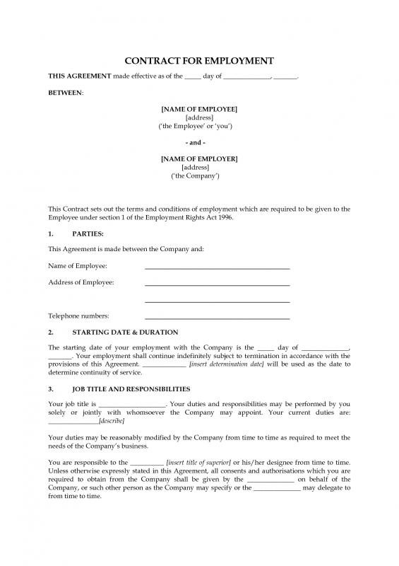 Work Contract Template shatterlioninfo - Work Contract Template