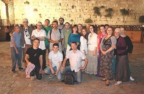 Polish Jews at Kotel