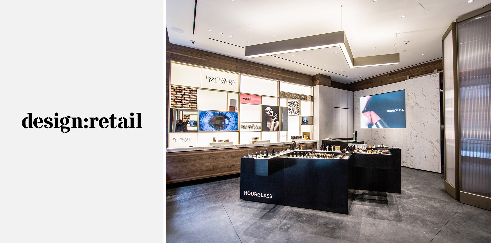 Ceiling Design Retail Design Retail Takes You Inside Hourglass Cosmetics