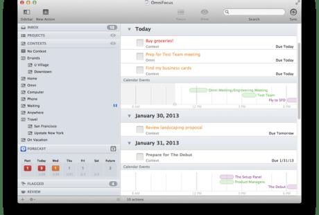 Beta 1 of OmniFocus 2 for Mac