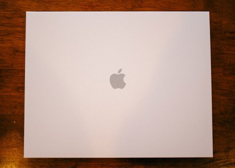Apple Logo on the photo book Sleeve