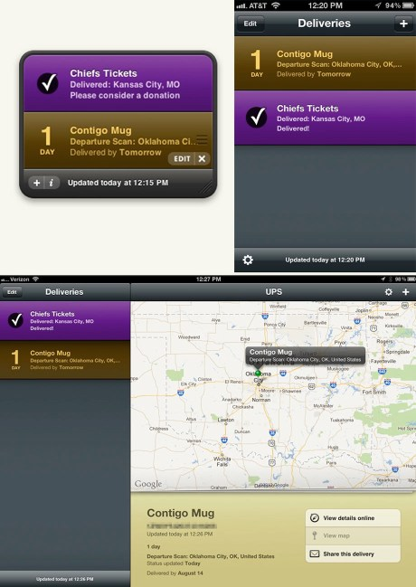 Delivery Status apps