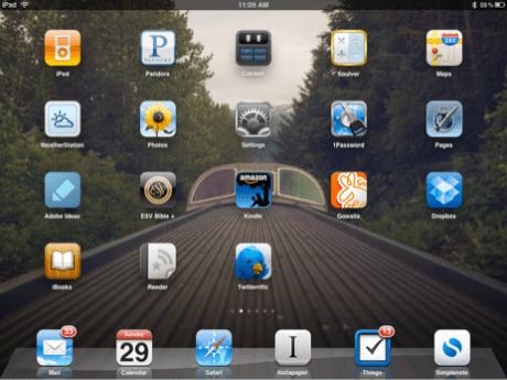 My iPad Homescreen