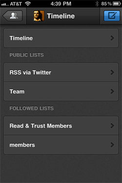 Tweetbot's lists as main timeline