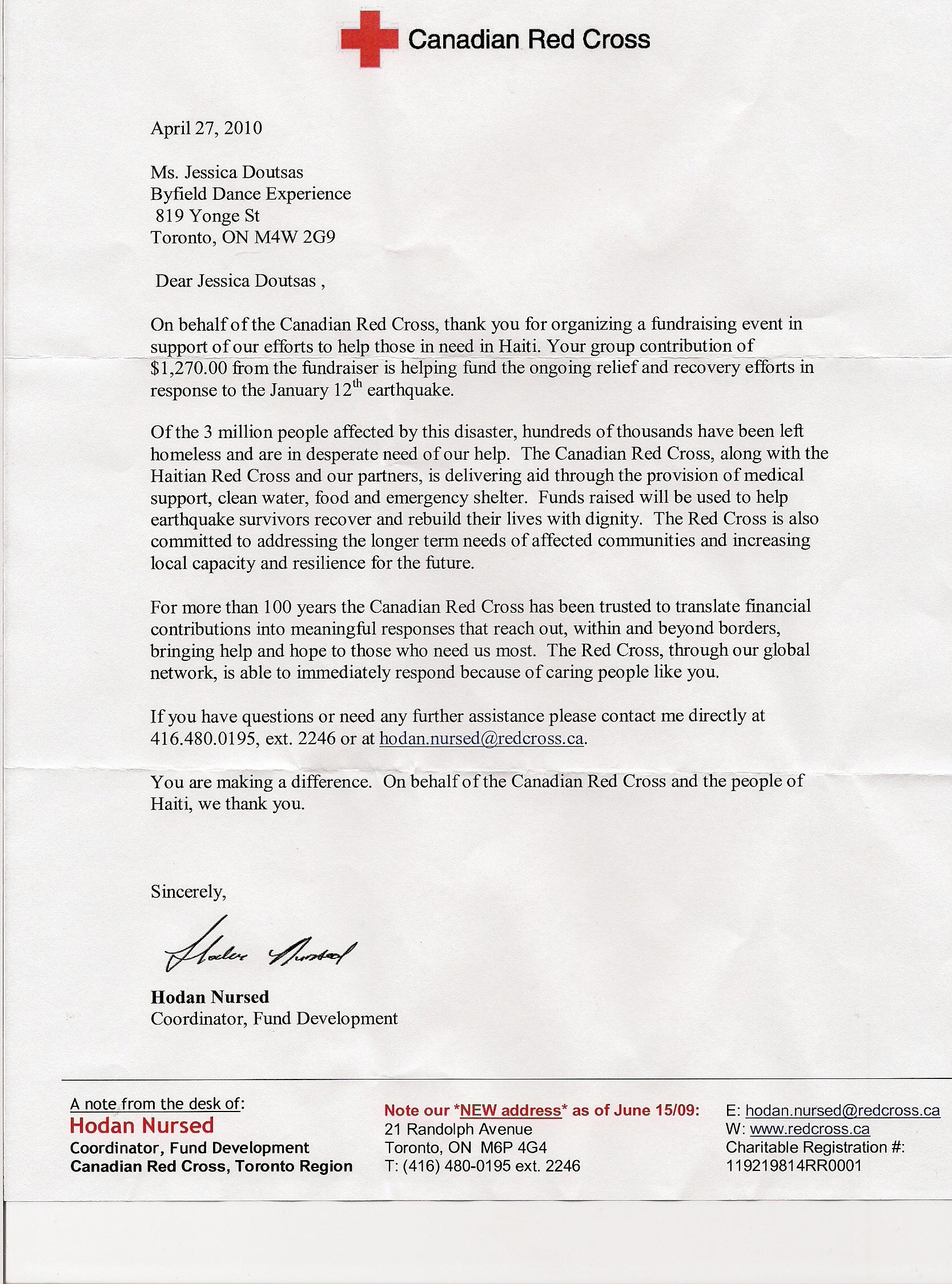 Fundraiser Cover Letter