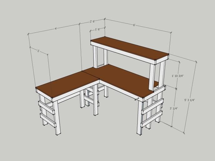 DIY Electronics Workbench SketchUp design
