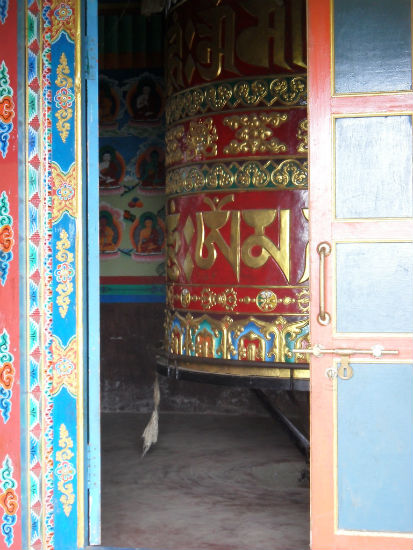 Prayer Wheel near Lukla Nepal