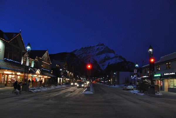 Banff, Canada in the snow