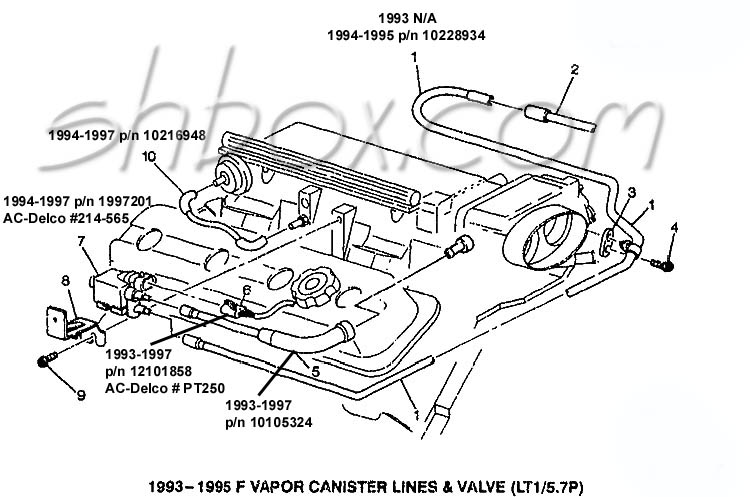 lt1 pcv valve engine diagram together with 95 camaro 3 4 engine