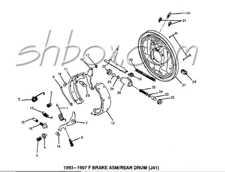 pontiac drum brake diagram