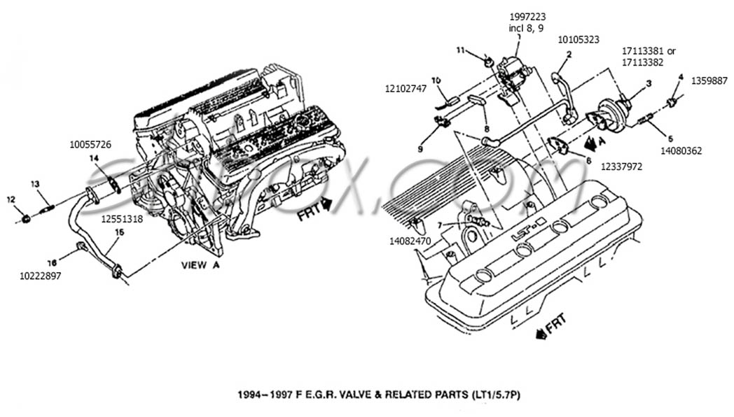 1996 corvette lt1 Motor diagram