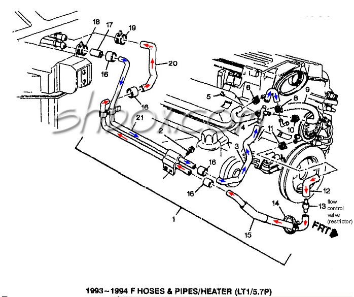 4th Gen LT1 F-Body Tech Aids-Drawings  Exploded Views