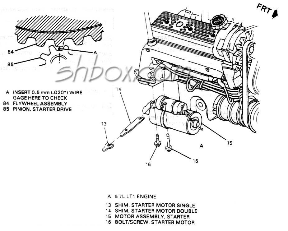 1995 cadillac engine starter diagram