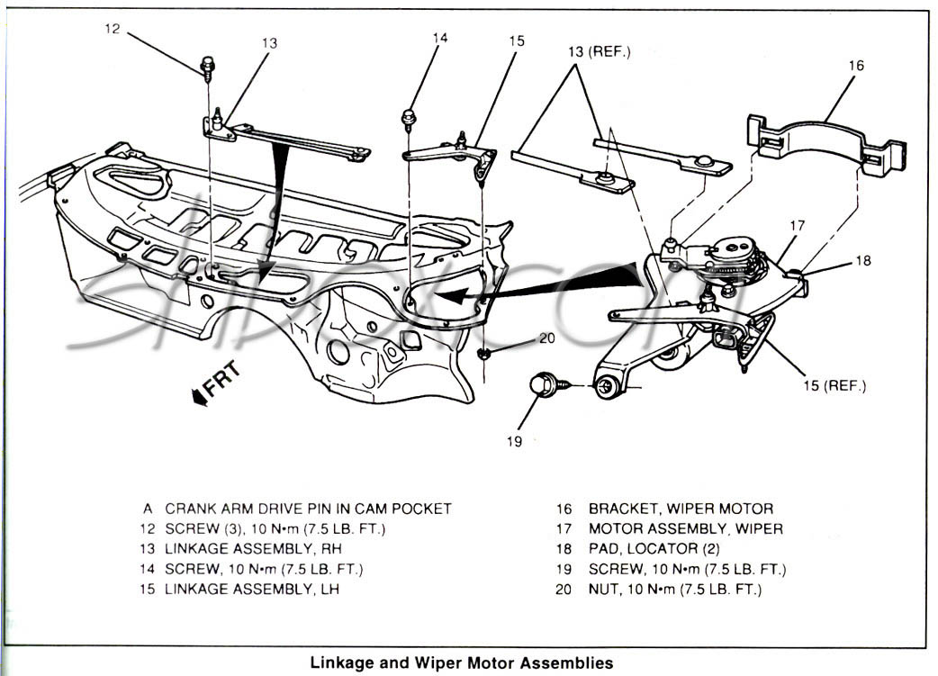 gm wiper motor diagram
