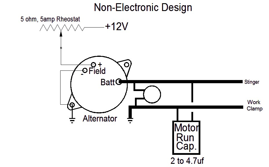 wiring diagram alternator for homemade welder