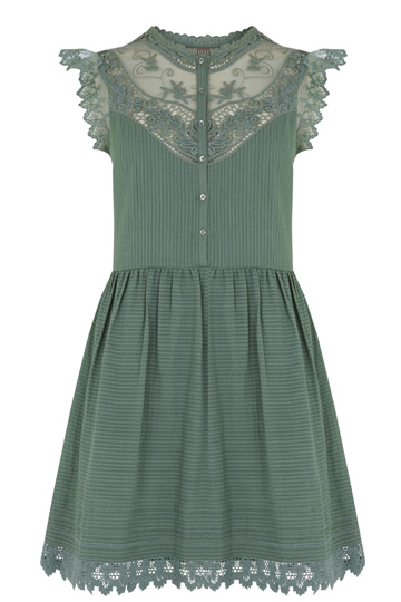 Double Thumbs Dresses #80 | Delicate Lace Yolk Dress £45 from Oasis