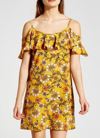 She and Hem | Cold Shoulder Floral Print Dress £16 from Matalan