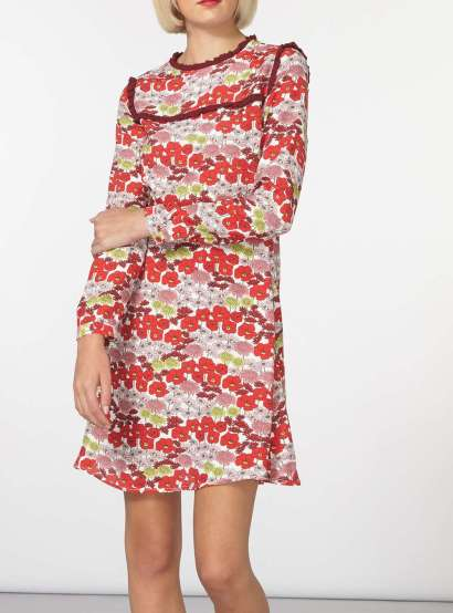 She and Hem | Double Thumbs Dresses #85 | Floral Frill Fit And Flare Dress £35 from Dorothy Perkins