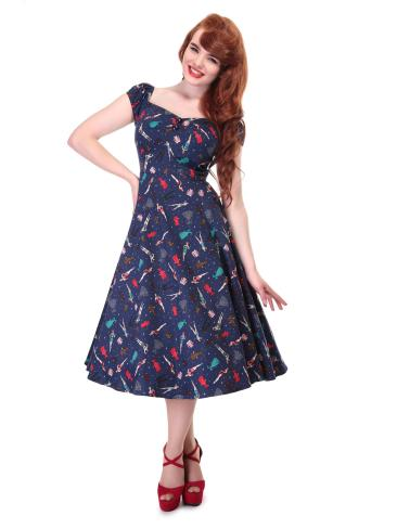 She and Hem |Double Thumbs Dresses #85 | Dolores Paper Pin-up Doll Dress £63.75 from Collectif