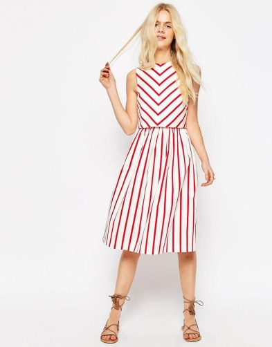 Double Thumbs Dresses #86 | Stripe Picnic Dress with Double Layer £35 (Reduced from £50) from ASOS