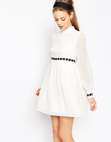 Double Thumbs Dresses #86 | Contrast Trim Baby Doll Dress £26.50 (reduced from £38) from ASOS