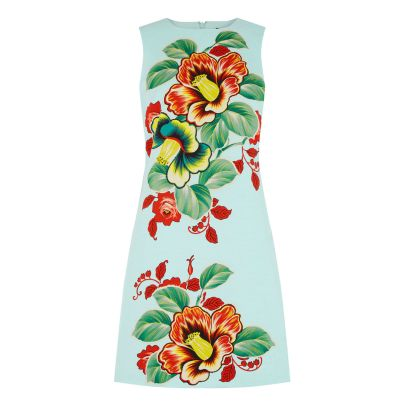 Double Thumbs Dresses #86 | Botanical Floral Shift Dress £20 (Reduced from £49) from Warehouse