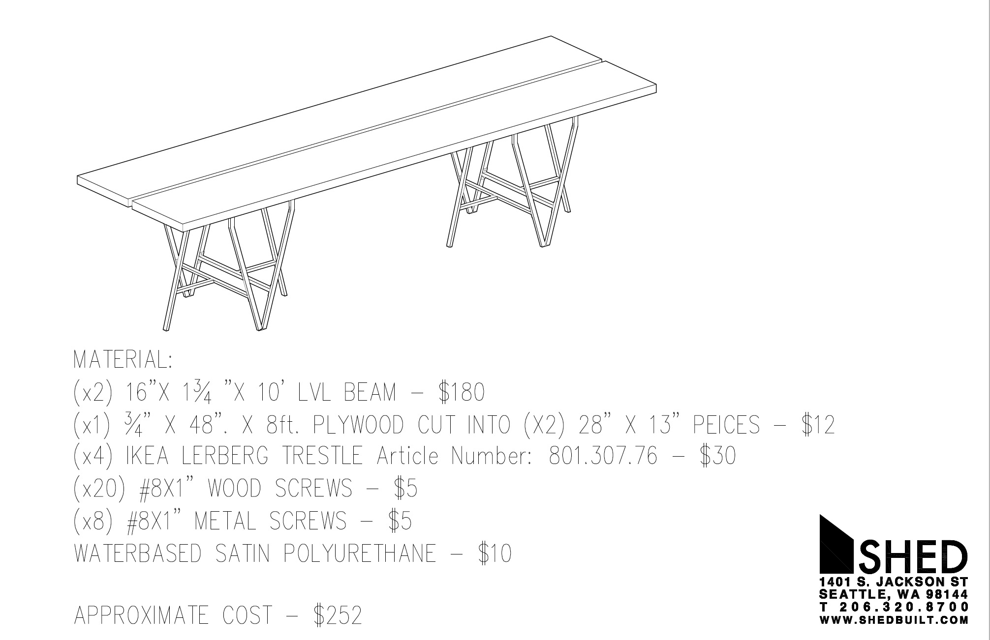 Ikea Table Shed Architecture Design Seattle Modern Architects Ikea Table
