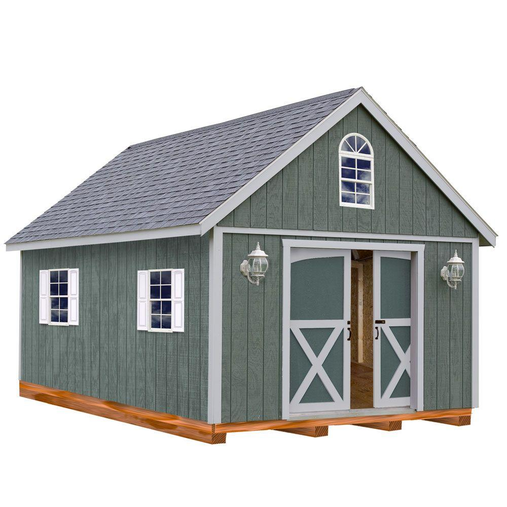 12x16 Best Barns Belmont 12x16 Wood Shed