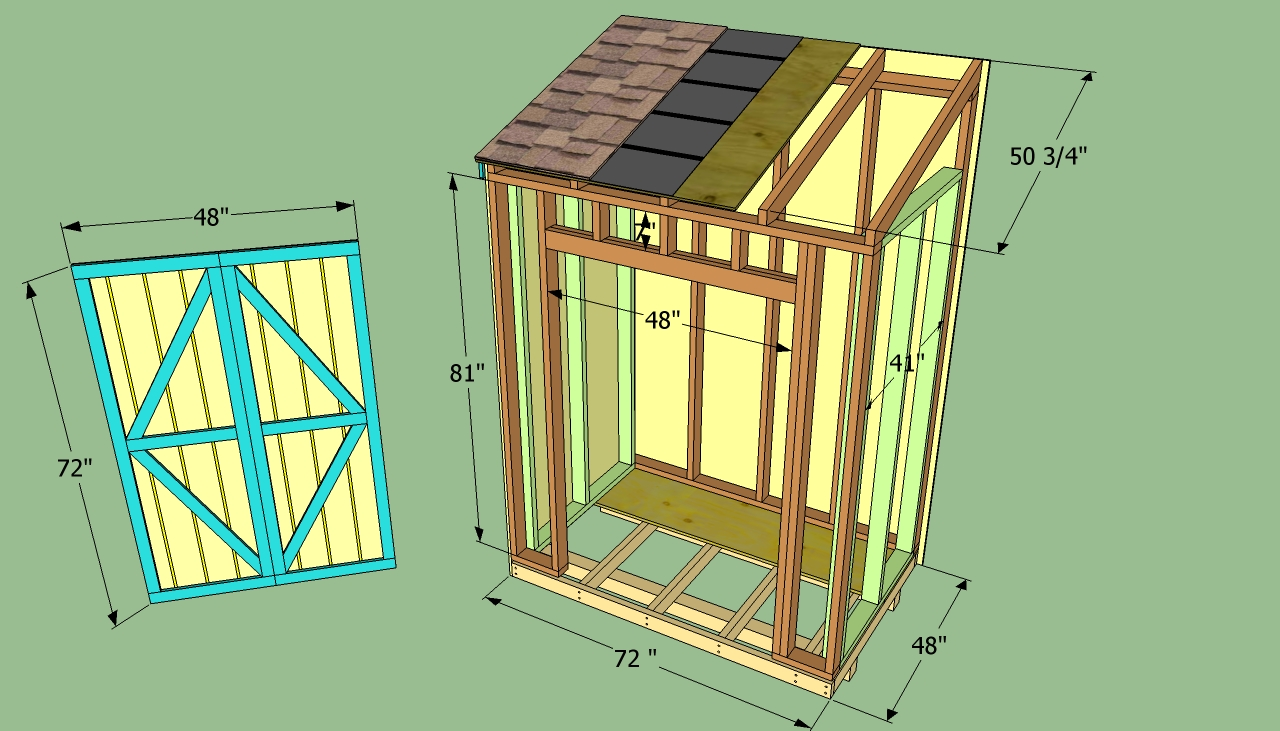Lean To Shed Plan Shed Blueprints