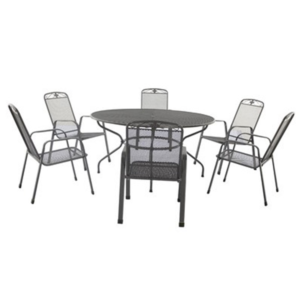 7 Piece Round Patio Dining Set Oos Until December 6 Seater 7 Piece Savoy Round