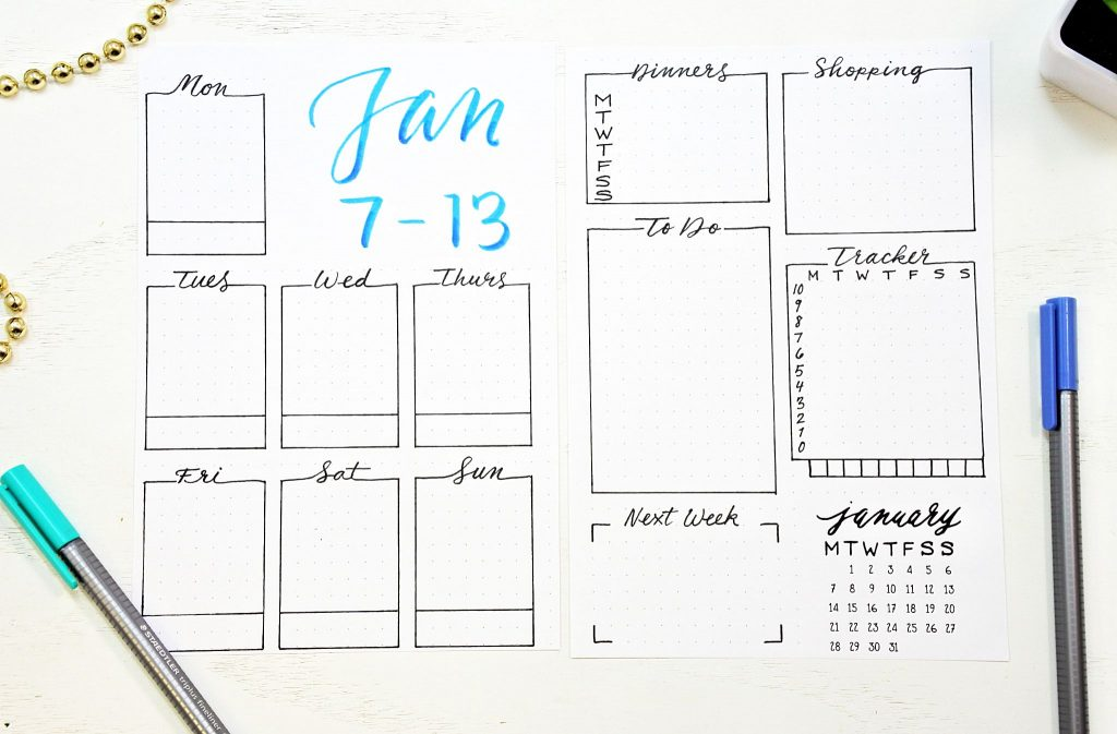 Bullet Journal Setup for 2019 with 30 Printables! ⋆ Sheena of the