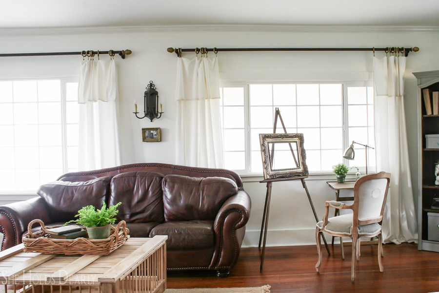 Farmhouse Living Room Reveal - She Holds Dearly - farmhouse living room decor