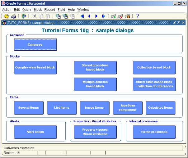 Oracle Forms 10g  Demos, Tips and Techniques